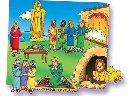 Daniel and the Lions Den-Felt