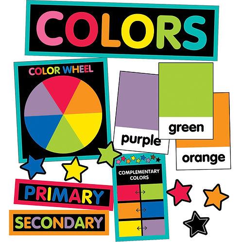 Just Teach Color Cards Mini Bulletin Board Set