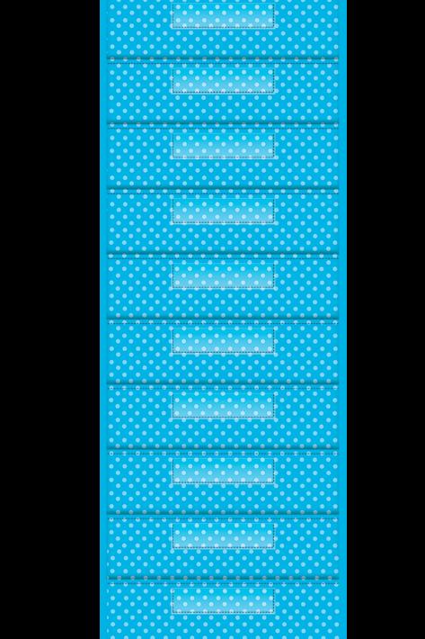 Aqua Polka Dot 10 Pocket File Storage Pocket Chart