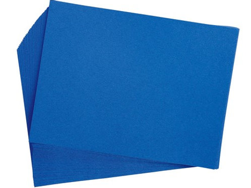 Construction Paper Bright Blue   9 x 12    50 pack