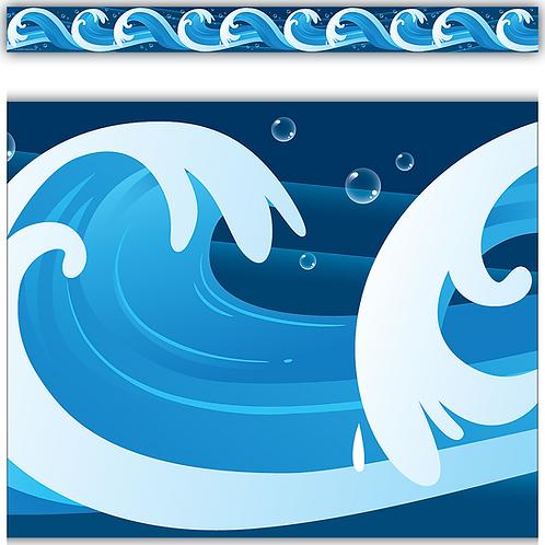 Ocean Waves Straight Border