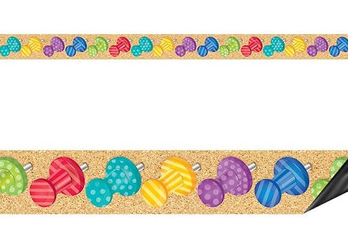 Bold & Bright Push Pins Magnetic Border