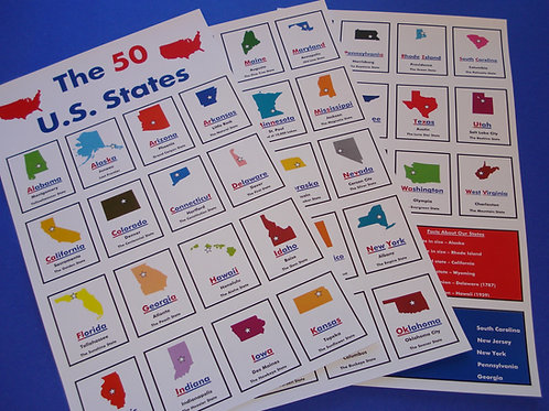 US STATE FLASHCARDS
