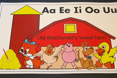 Old MacDonald Vowel Song Chart