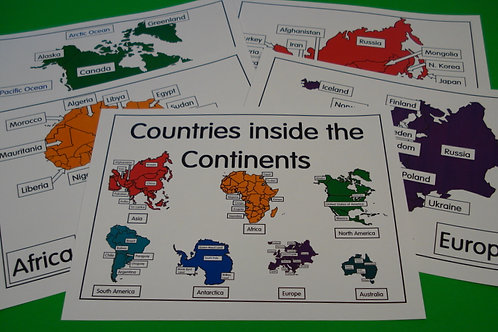Countries Inside The Continents Flashcards