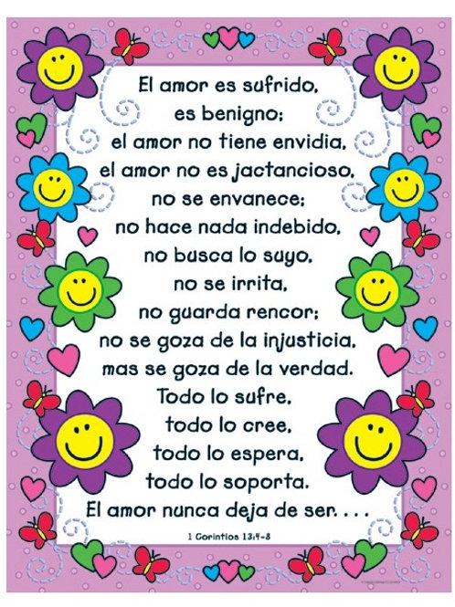 The Love Verses Chart Spanish