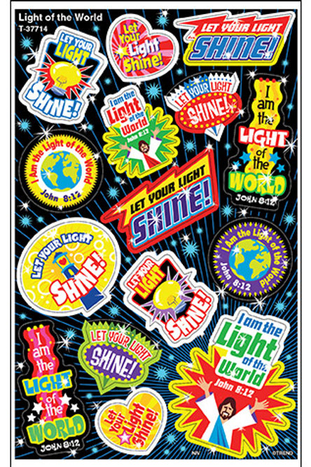 Light of the World Foil Bright Stickers