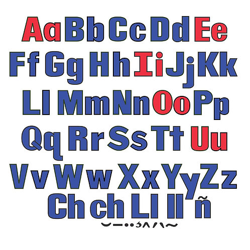 Upper & Lower Case Flannel Letters