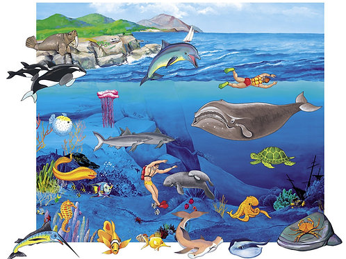 Sea Life, Playboard Set-Felt