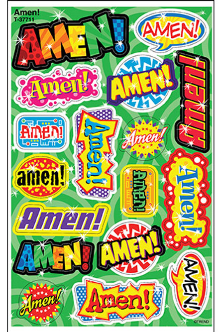 Amen! Foil Bright Stickers