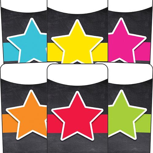 Stars Library Pockets