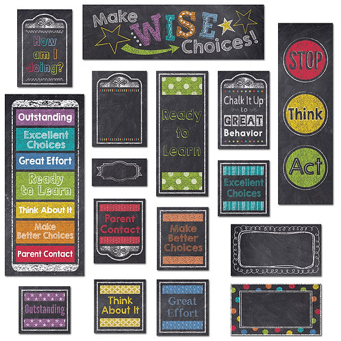 Chalk It Up! Behavior Clip Chart Mini Bulletin Board