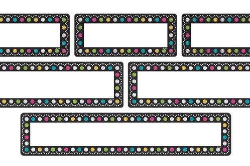 Clingy Thingies Chalkboard Brights Labels