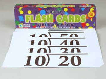 VERTICAL DIVISION FLASHCARDS 0-10