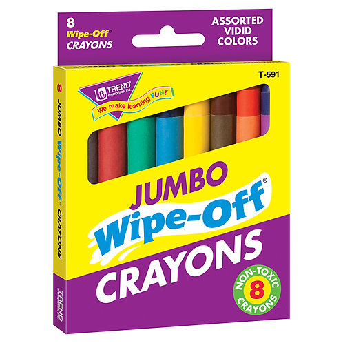 8-Pack Jumbo Assorted Wipe-Off® Crayons