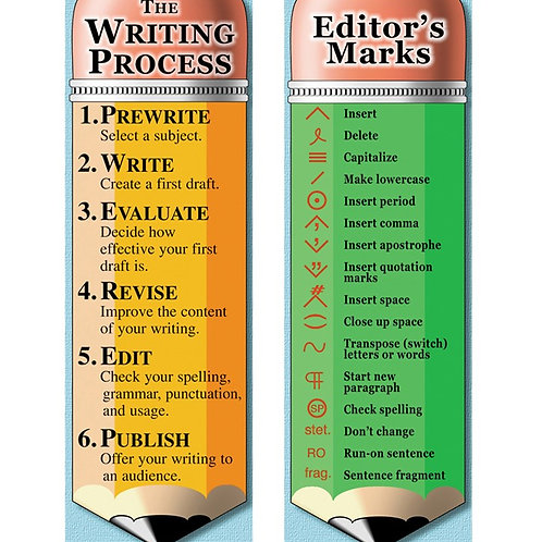 WRITING PROCESS AND EDITORS MARKS BOOKMARKS