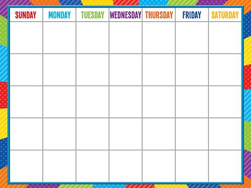 Playful Patterns Calendar Chart