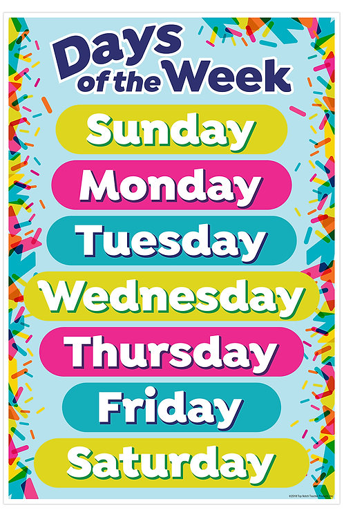 Days of the Week Smart Chart