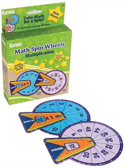 Math Spin Wheels - Multiplication