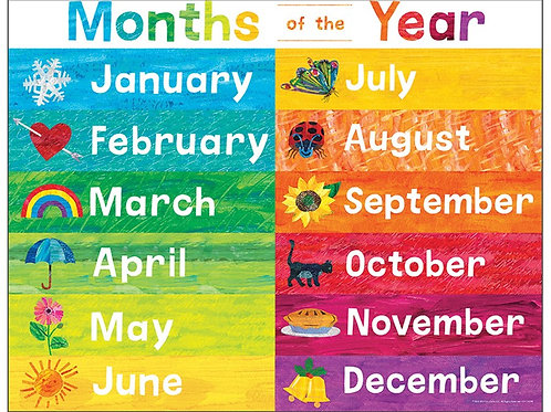 World of Eric Carle™ Months of the Year Chart
