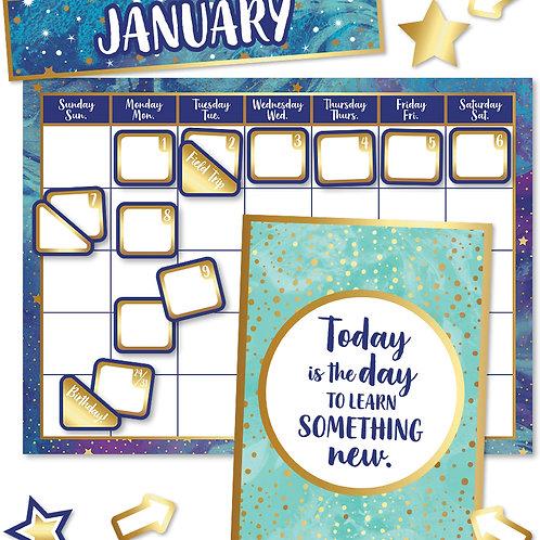 Galaxy Calendar Bulletin Board Set