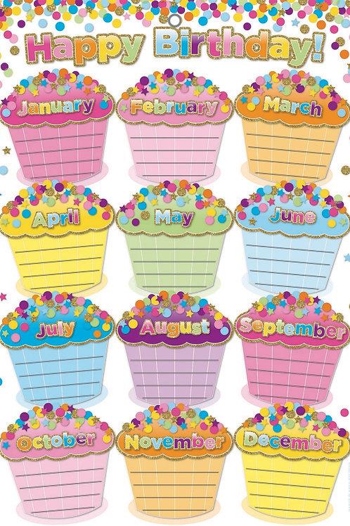 "Confetti Birthdays Smart Poly™ Chart 13""x19"""