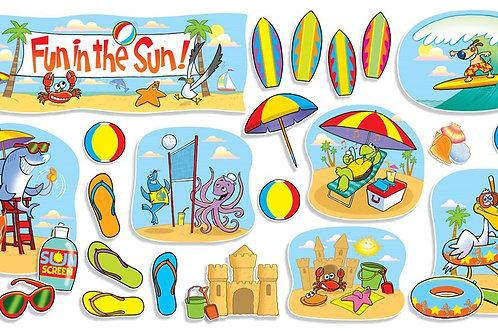 Fun In The Sun Bulletin Board Set