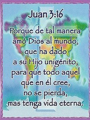 John 3:16 Chart Spanish