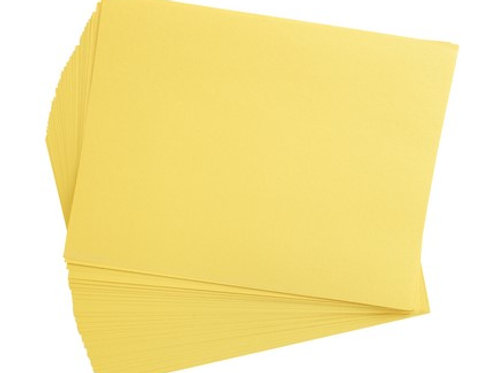 Construction Paper Yellow    9 x 12    50 pack