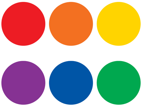 Spot On Colorful Circles Carpet Markers - 7""