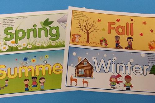 Four Seasons Word Strips