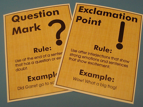Punctuation Flashcards