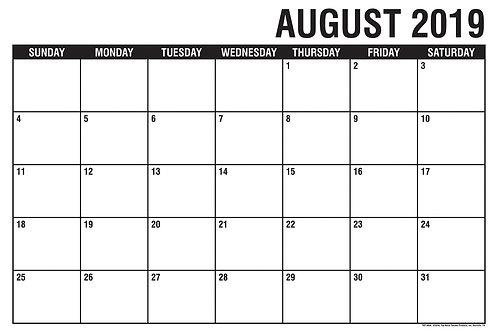Academic Desk Calendar 2019-20