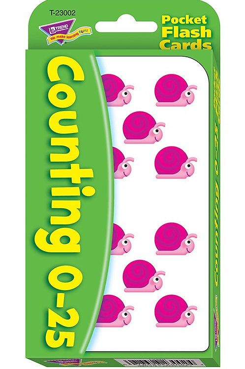 Counting 0-25 Flashcards