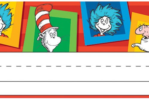 Dr. Seuss™ Standard Tented Name Plates