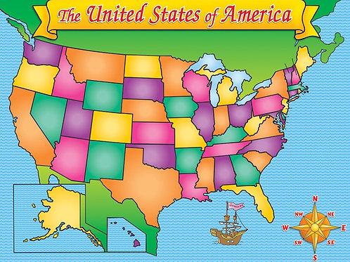 USA MAP FRIENDLY CHART