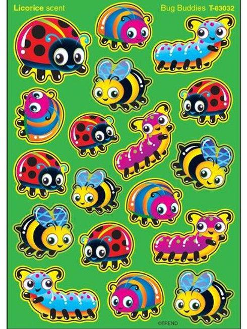 Bug Buddies, Licorice scent Scratch 'n Sniff Stickers