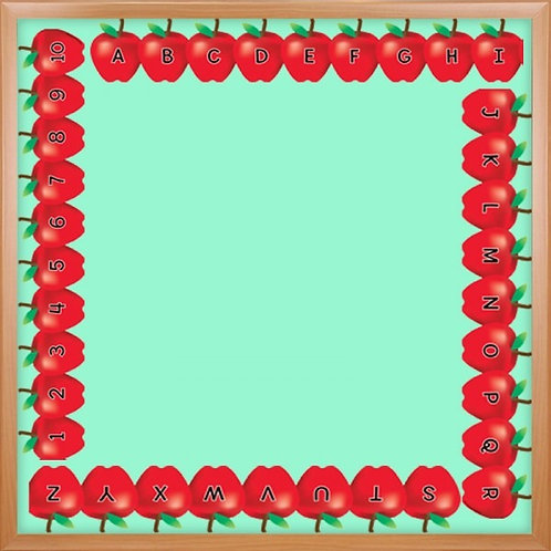 Alphabet Apples Border