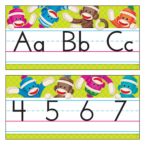 Sock Monkeys Alphabet Line