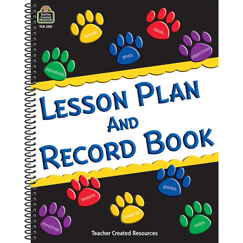 Paw Print Lesson and PlanBook