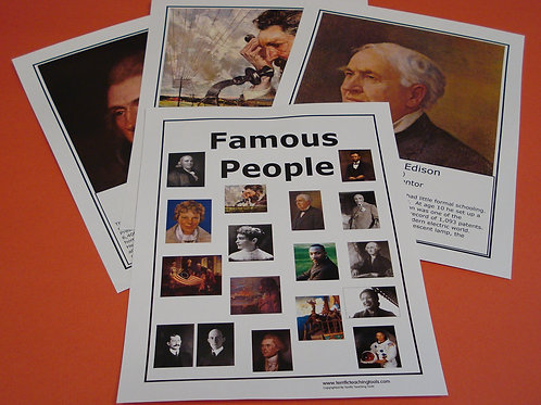 FAMOUS PEOPLE FLASHCARDS