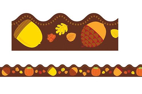 Acorns & Pumpkins Scalloped Borders