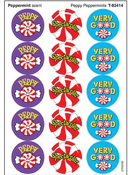 Peppy Peppermint Stickers