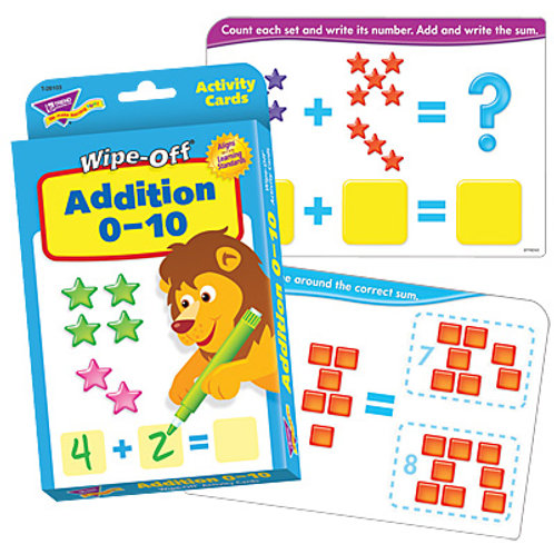 Addition 0-10 Wipe-Off® Activity Cards