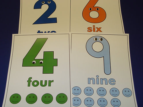Numbers With Personality Flashcards  0-10
