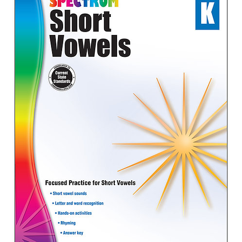 Spectrum Short Vowels Workbook K