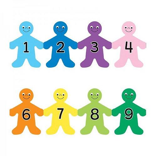 Number Kids Border