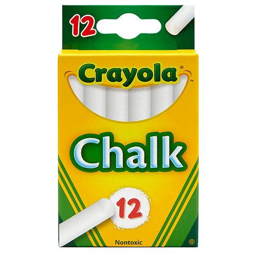 Crayola White Chalk   12 Ct
