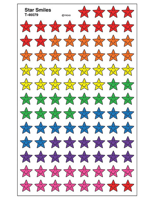 Star Smile Stickers - 800 stickers