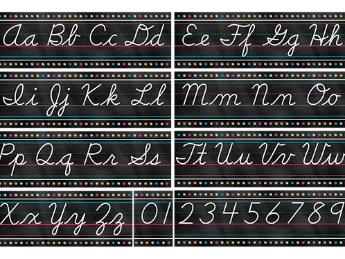 Chalkboard Brights Cursive Writing